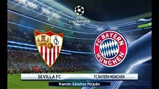 Sevilla vs Bayern Munchen | UEFA Champions League 2018 | PES 2018 Gameplay HD