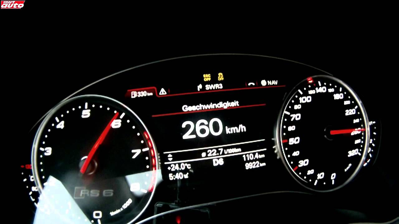 2013 Audi Rs6 0 313 Km H Top Speed Acceleration Youtube