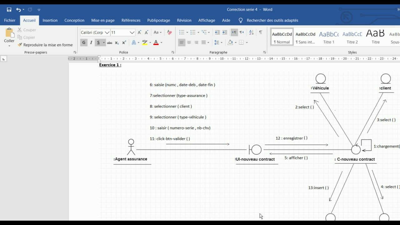 Explication td 4 diagramme de collaboration - YouTube
