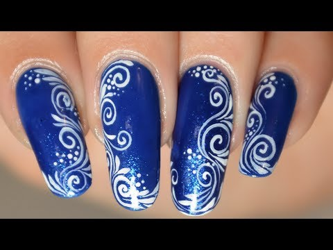 nail art facile arabesques spirales dessin sur les ongles youtube. Black Bedroom Furniture Sets. Home Design Ideas