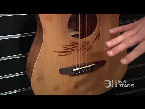 NAMM 2018 Safari Bamboo Travel Guitar by Luna Guitars