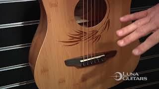 NAMM 2018 Safari Bamboo Travel Guitar by Luna Guitars