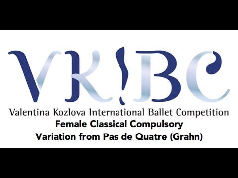 VKIBC 2016 Female Classical Compulsory Solo- Pas De Quatre Grahn Variation