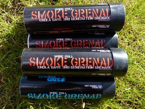 Airsoft Smoke Grenade - Red Wire Pull Smoke Grenade