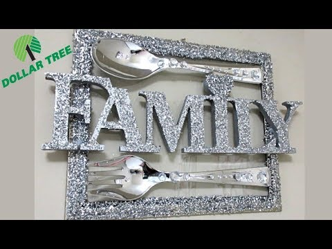 DIY DOLLAR TREE GLAM WALL DECOR, HOME DECOR IDEAS 2019