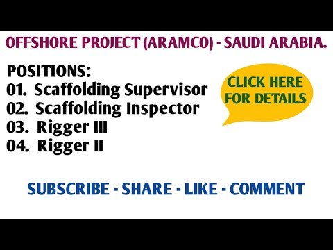31. URGENT REQUIRE - OFFSHORE PROJECT (ARAMCO) - SAUDI ARABIA.