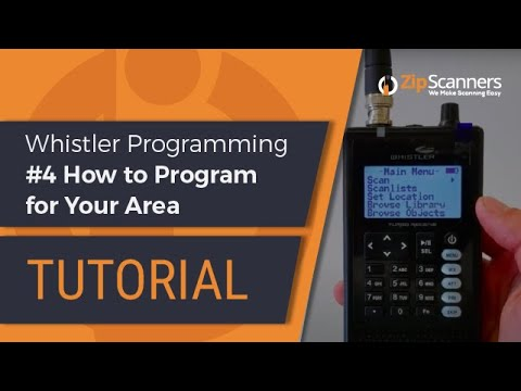 Whistler Police Scanner Programming #4 How to Program for Your Area