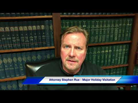 Setting Major Holiday And Summer Visitation Schedules in Louisiana by Family Lawyer Stephen Rue