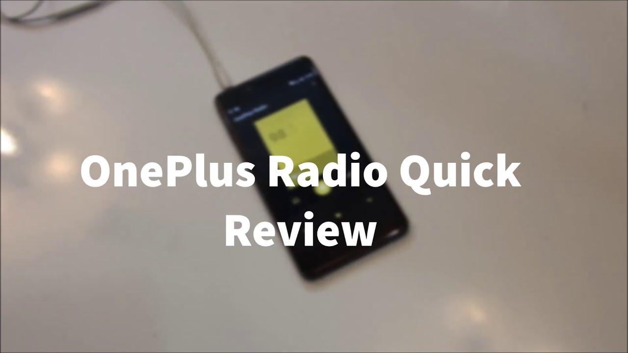 OnePlus X : OnePlus Radio Quick Review