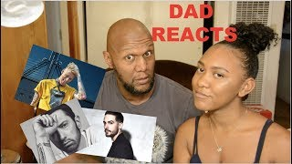 MY DAD REACTS TO THE MGK, G-EAZY, EMINEM BEEF! *he goes off!!* | Kennedy Humphrey