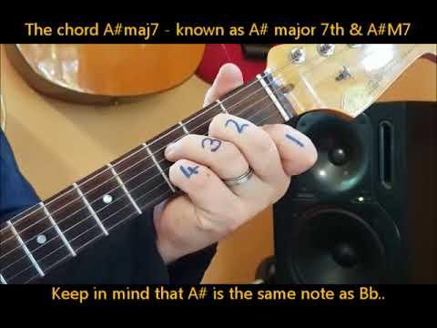 ★A Maj7 ★ How to play A maj7 chord on guitar | La maj 7 Akoru Gitarda Nasıl Basılır ?