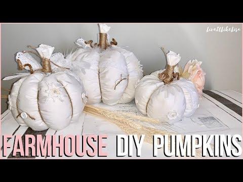 FARMHOUSE DIY FALL DECOR | Shabby Farmhouse Pumpkins