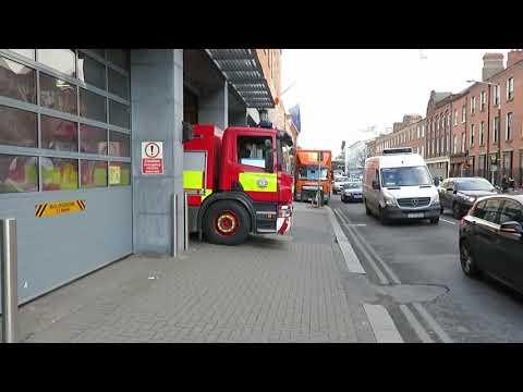 Dublin fire brigade environmental unit coming out of Tara St
