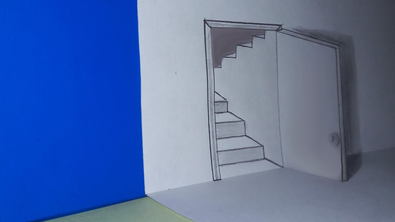 The Door Illusion | How to Draw a 3D Door | 3D Magic Drawing | Avro Drawing School & The Door Illusion | How to Draw a 3D Door | 3D Magic Drawing | Avro ...