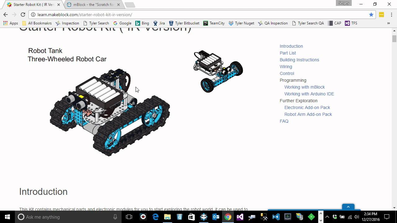 Programming Makeblock Starter Robot - Controlling Motors