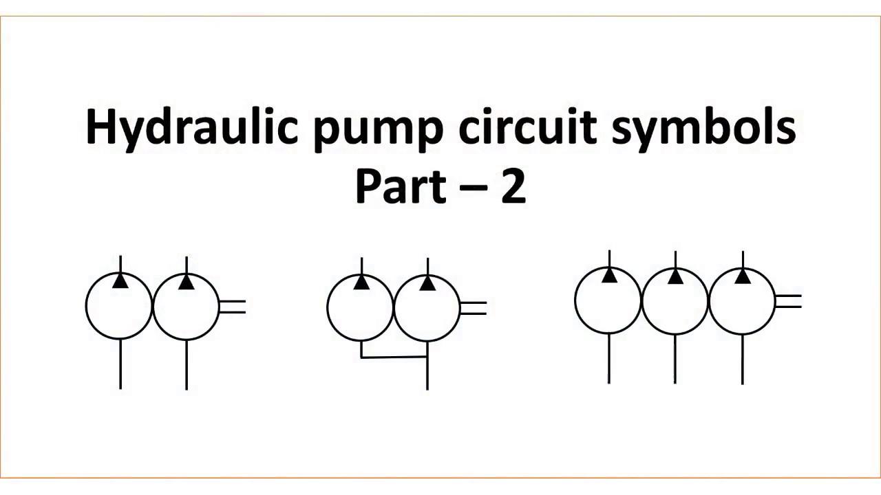 Hydraulic Pump Circuit Symbols Part 2 Youtube