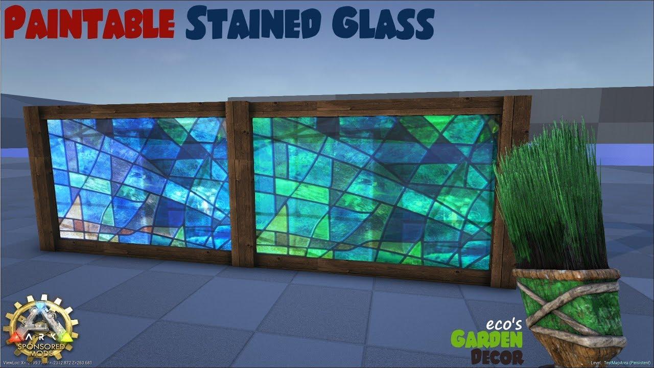 Ecou0027s Garden Decor | Paintable Stained Glass | ARK Sponsored Mod