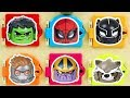 Spiderman and Marvel Avengers Superheroes Trapped Doors Game with Avengers Mighty Muggs