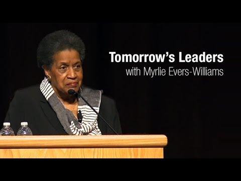 Tomorrow's Leaders: Building on the Legacy of Selma with Myrlie Evers-Wiliiams