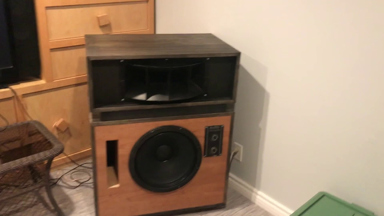 ALTEC Model 19 Speakers (Rebuilt) Look and Sound Amazing!