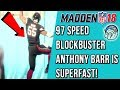 97 SPEED Blockbuster Anthony Barr IS SUPERFAST! Madden 18 LIVE Gameplay!
