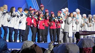 2018 平昌 PyeongChang Figure Skating Team Medal Ceremony