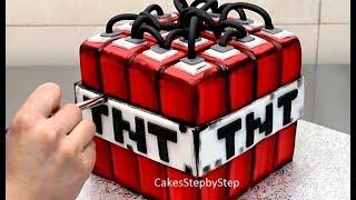 MINECRAFT CAKE - How To Make  by Cakes StepbyStep