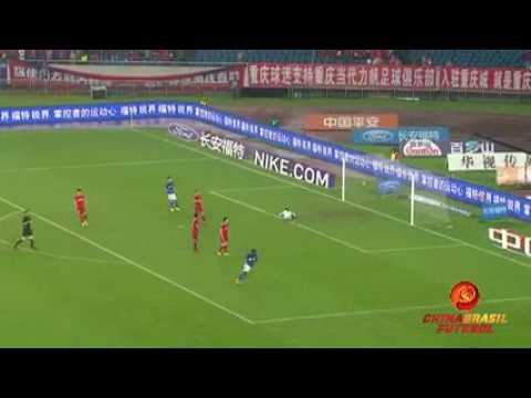 Gol Christian Bassogog - Henan Jianye x Chongqing Lifan - Super Liga da China 2017
