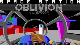 Driller - Space Station Oblivion - 1987 PC Game, gameplay