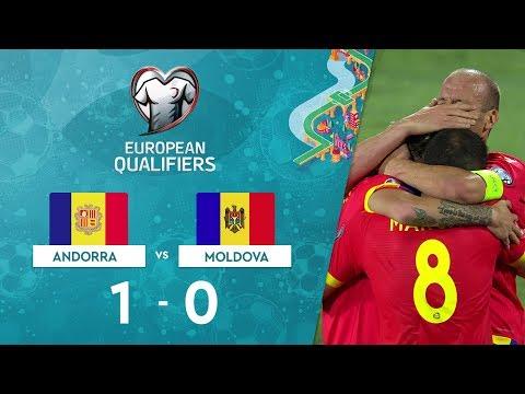 Andorra  1-0 Moldova |  EURO 2020 Elemeleri Maç Özeti - H Grubu