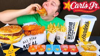 Double Cheeseburger Box • Carl's Jr. • MUKBANG