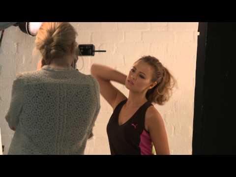Kimberley Walsh Puma Bodytrain SS12 shoot