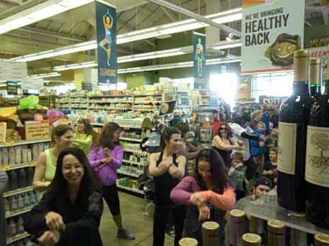 Flash Mob in Whole Foods Market Palo Alto