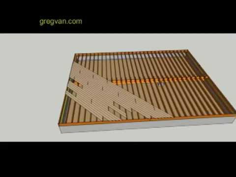 Part 2 Raised Floor Framing With 1 X 6 Diagonal