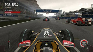 F1 2010 PC Gameplay - Robert Kubica - Bahrain - Heavy Rain