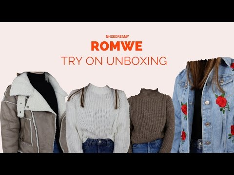 Try on Unboxing Romwe