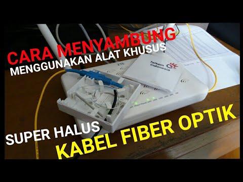 Begini Cara Menyambung Kabel Fiber Optik Telkom Speedy - Super Halus Kabelnya
