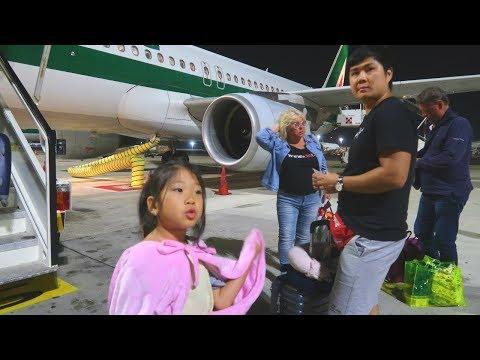 ВЛОГ Летим В РИМ и ДОМОЙ! Придурки В самолете! ТЯЖЕЛЫЙ ПЕРЕЛЕТ :14 09 19