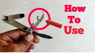 Nail Cutter Life Hack || How To Use Nail Cutter This Parts