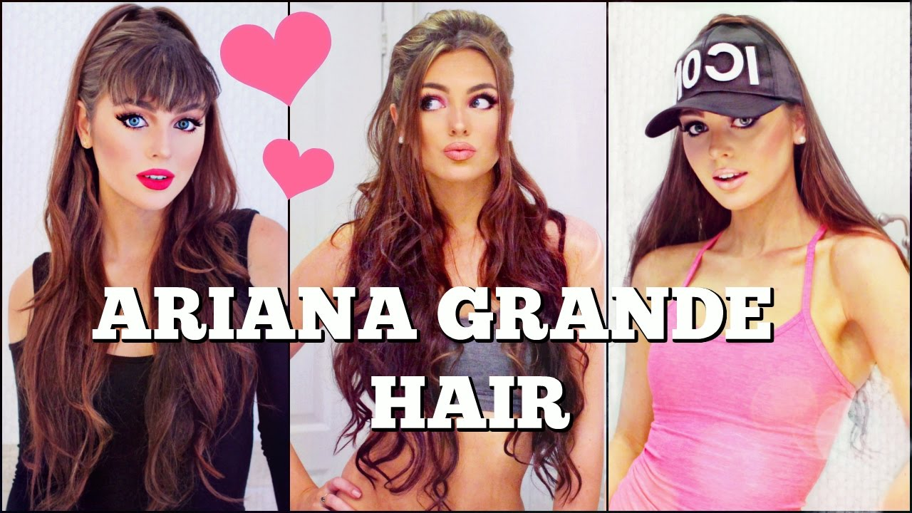 3 Ariana Grande Half Up Hairstyles With Extensions Tutorial Youtube