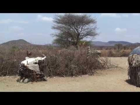 Samburu Village Kenya - People and Huts