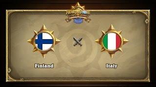 Финляндия vs Италия | Finland vs Italy | Hearthstone Global Games (10.05.2017)