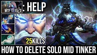 Thunder God [Zeus] How to Destroy Solo Midlane Tinker 25Kills 1Min=1Kill THE BEST ZEUS PLAYER DOTA 2