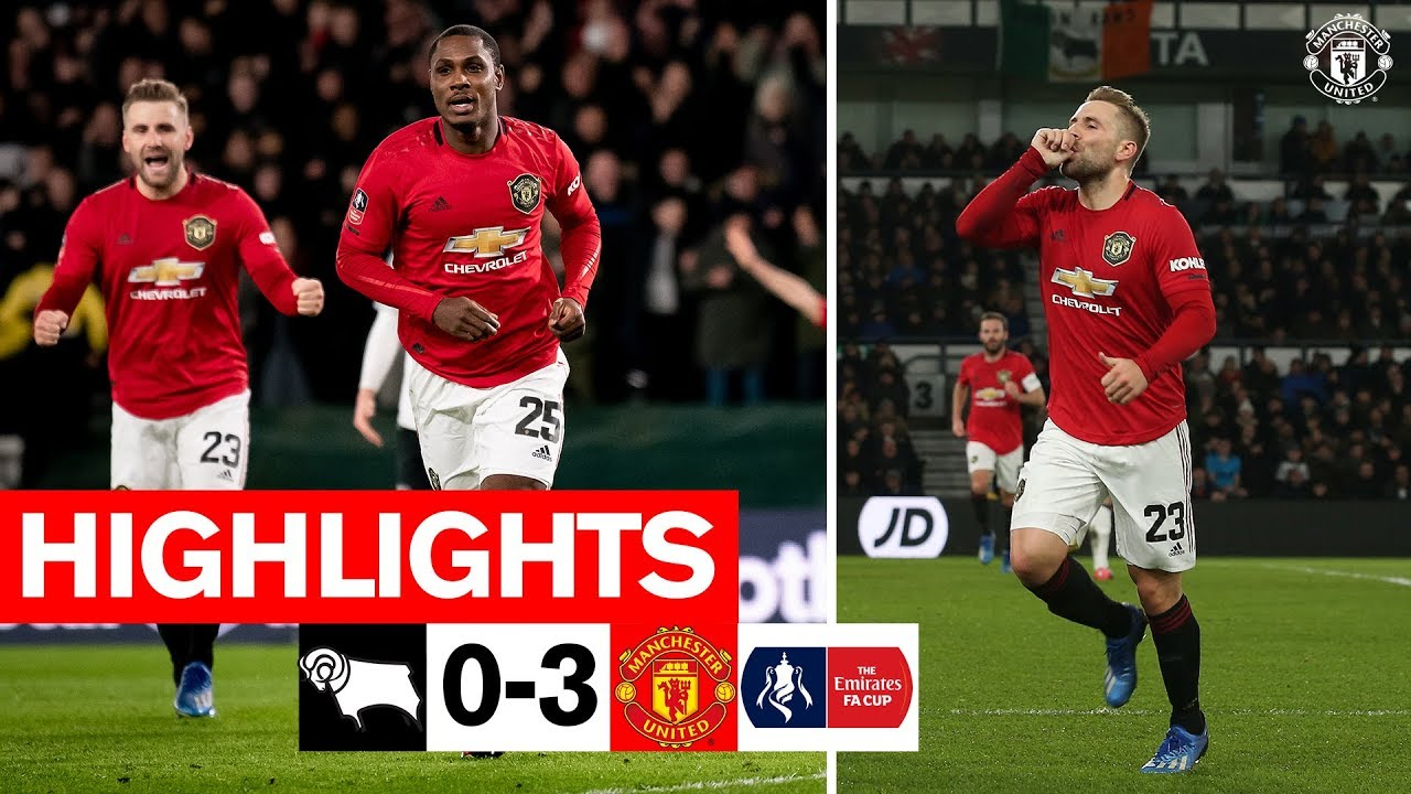 Ighalo & Shaw fire the Reds through! | Derby 0-3 Manchester United | Emirates FA Cup | Highlights
