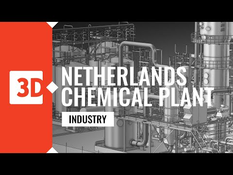 Netherlands chemical plant - point cloud, Aveva PDMS, clash verification