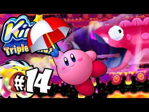 Kirby Triple Deluxe: Eel Attack! Parasol Copy World 5 PART 14 Nintendo 3DS Gameplay Walkthrough