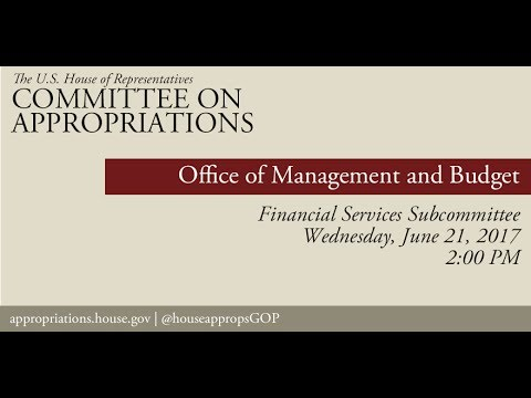 Hearing: Office of Management and Budget Budget