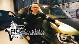 Rocktek - Signs - Wrapping | Wrapping a Volkswagen T6 in colour changing vinyl wrap | Vinyl Wrapping