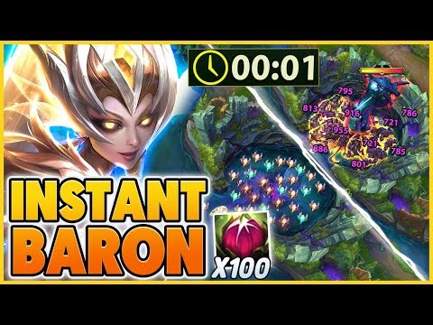THE 1 SECOND BARON BUG (ONLY WITH ZYRA) - BunnyFuFuu | League Of Legends