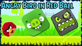 Angry Bird In Red Ball 4 Green Hills Mobile Game Walkthrough